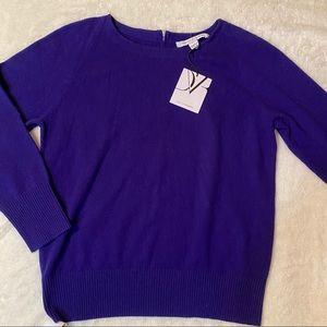 Diane von Furstenberg size L blue sweater